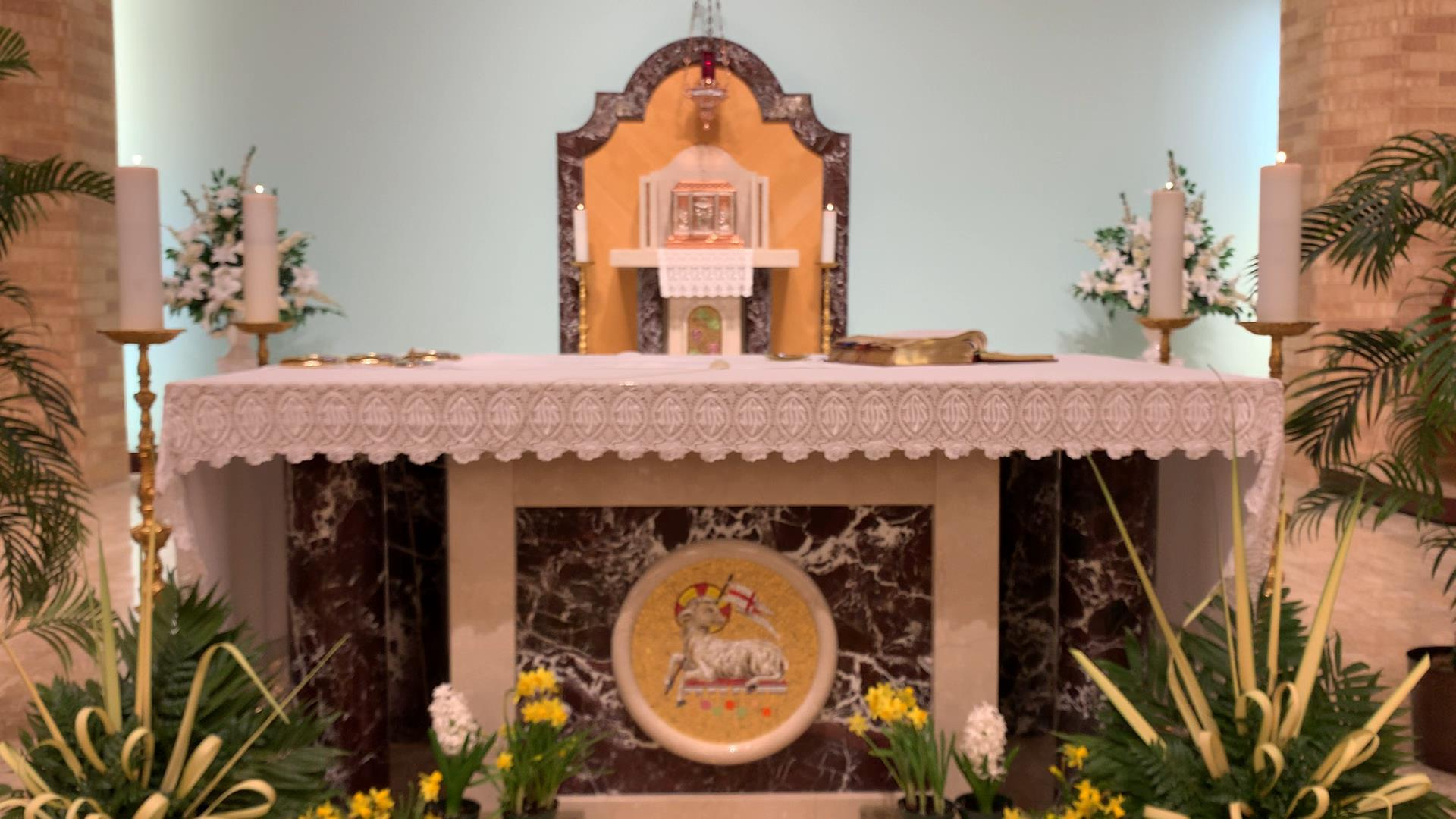Palm Sunday Altar Picture